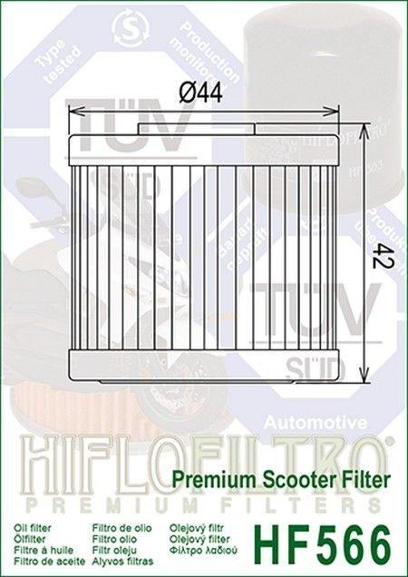 HF566. Filtros de aceite Hiflofiltro